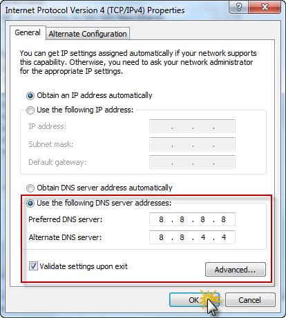 تغییر DNS در ویندوز 7