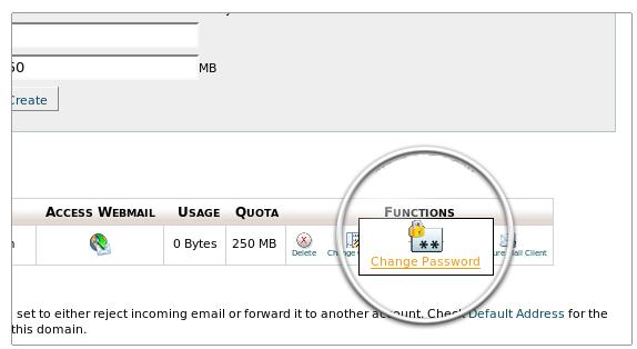 تغییر رمز عبور Email در Cpanel