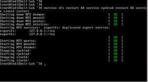 کارکرد دستور exportfs -a برای NFS